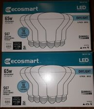 12 Pack EcoSmart 65w Rep (9w) Daylight 5000K 685 Lumen BR30 Dimmable Floodlights
