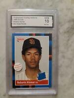 1988 Donruss Roberto Alomar Rookie Baseball Card GEM MINT 10 Must See! PSA ??