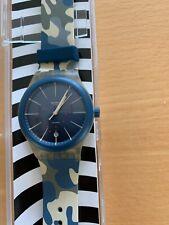 Swatch Watch - Blue Camo - NEVER WORN