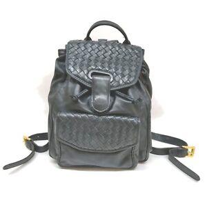 Bottega Veneta Back Pack  Navy Blue Leather 1906715