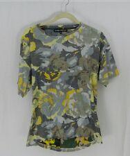 Gaspard Yurkievich Unique Design Camouflage Open Back Short Sleeve Shirt Medium