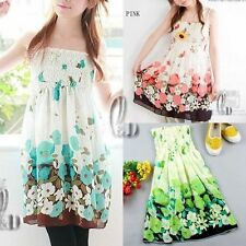 Chiffon Summer/Beach Floral Sundresses for Women