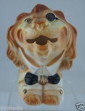 ANTIQUE DRESSED MAN LION CREAMER FIGURINE SCARCE NOVELTY GERMANY