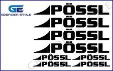 8 pezzi pössl-Roulotte Adesivo-STICKER-DECAL!