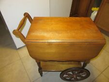 HARTSHORN Serving Drop Leaf Table, Tea Cart with Tray