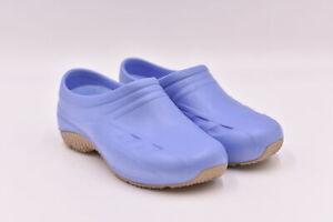 Women's Anywears Injected Clogs w/ Backstrap, Ciel Blue, 6