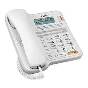 Vtech T1300 corded telephone phone and handsfree speaker phone+caller id functio