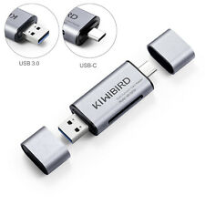 KiWiBiRD USB-C Type C 3.1 & USB 3.0 SD, TF, Micro SD OTG Card Reader Adapter