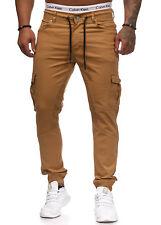 hombre ajustado Cargo Diseñador Pantalones Vaqueros De Chino Stretch Vaqueros