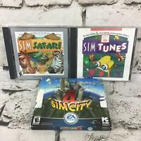SIMS PC CD-ROM Software Video Games Lot Of 3 City4 Tunes Safari