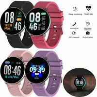 Damen Smartwatch Fitness Tracker Sport Pulsuhr Armband für Samsung Galaxy iPhone