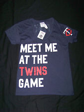 Victoria's Secret PINK Minnesota Twins Shirt NWT XS