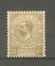 "MONACO STAMP TIMBRE TAXE N°10 "" PRINCE ALBERT 1er 30c BISTRE "" NEUF xx TB A VOIR"