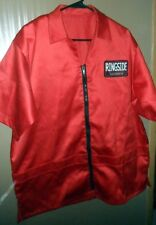 Ringside Corner Man's Jacket Red Zip-Up 4 Front Pockets Size M