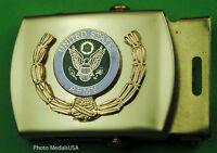 Army Wreath black Web Belt &  brass buckle