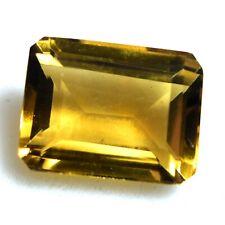 5.35 Ct Natural Brazilian Citrine Certified Vitreous Loose Gemstone Emerald Cut