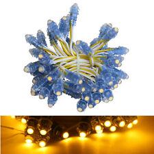 50X Pixel LED gelb Kette Dump 12 Volt EEK A bis A++ Weihnachten (5,56 EUR/m)