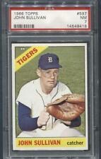 1966 Topps #597 John Sullivan (Tigers)  PSA 7  (Flat Rate Ship)