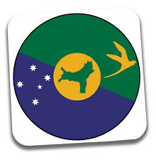 Christmas Island Flag Drinks Coaster - Gift - Birthday - Stocking Filler