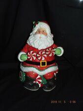 Fitz And Floyd Holiday Cheer Santa Claus Cookie Jar Ceramic 12� W/ Box