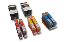8x CARTUCHO + CHIP para HP Officejet-Serie: 7000 Special Edition / 7500