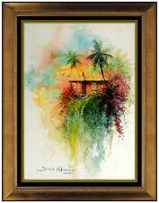 James Coleman Rare Original Watercolor Painting Hawaii Landscape Signed Artwork
