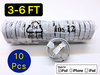 10 Pack 3Ft 6Ft For iPhone 5 6s 8P XS 11 Pro USB Charger Cable Charging Cord Lot