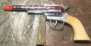 VINTAGE PONY BOY TOY DIE CAST ROLL CAP GUN - NEAR MINT!