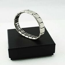 Gift Titanium Steel Germanium Health Bracelet Power Nano Energy Magnetic Balance