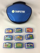 Lot of 9 Leap Pad Leapster Leap Frog Explorer Game Cartridges Carrying Case