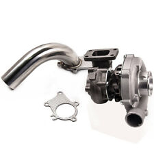 Hybrid T3/T4 T3T4 T04E .63 A/R Turbine 5 Bolt Flange Turbocharger with Downpipe