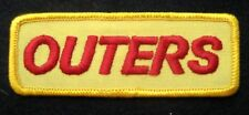 "OUTERS EMBROIDERED SEW ON PATCH HUNTING RIFLE PISTOL UNIFORM 4"" x 1 1/2"""