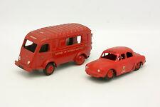 CIJ Code 3 1/43 - 2er satz Renault 1000kg und Dauphine Feuerwehr