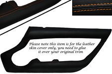 ORANGE STITCHING 2X OUTER DOOR CARD TRIM LEATHER SKIN COVERS FITS TVR CHIMERA