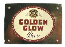 IRTP GOLDEN GLOW BEER BOTTLE LABEL, GOLDEN WEST BRG. OAKLAND, CALIF.