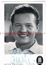 1950s Otto Höpfner Autographed 3x5 inch Photo Card German TV Personality