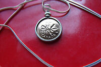 """1986 CANADA New Penny Pendant  on a 30"""" 925 Silver Snake Chain"""