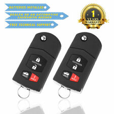 2 For Mazda 3 - 2010 2011 2012 2013 Keyless Entry Remote Car Key Fob Replacement