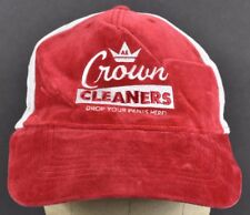 Red AE Crown Cleaners Logo Embroidered Baseball hat cap Adjustable Snapback