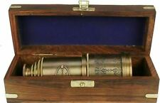 Nautical Marine Telescope Solid Brass Maritime Pirate Spyglass 20 Inches & Box