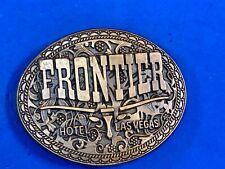 "Vintage 80's Las Vegas ""Frontier"" Hotel / Casino Gambling promo Belt Buckle"