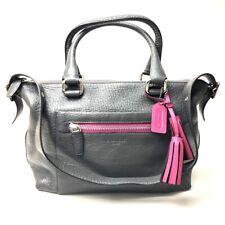 COACH 21140 Textured Legacy Satchel Shoulder Bag Hand Bag 2 way bag Gray