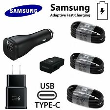 Orginal Genuine Samsung Galaxy Note8 S9 8Plus Fast Car Wall Charger Type-C Cable