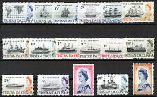 TRISTAN DA CUNHA 1965-67 DEFINITIVES SG71/84b MNH