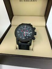 Burberry Chronograph Black Dial Black PVD Men's Watch 44mm BU7701 Quartz