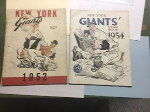 New York Giants, 1952 & 1954 Yearbooks, Covers by Mullin