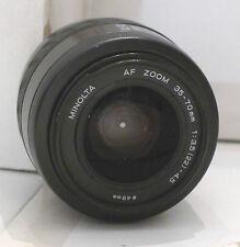 Minolta Film Camera Lens 49mm AF Zoom 35-70mm 1:3.5-4.5  - TESTED