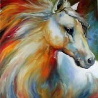 Modern Abstract Oil Painting Wall Decor canvas: horse  A105 (No Frame)