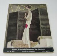 Nov 1928 Vogue Magazine Bolin Cover Art Deco Flapper Women Fashion Accessories