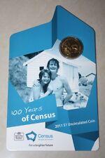 (PL) 2011 Australia 100 Years of Census $1 Unc Coin ROYAL AUSTRALIAN MINT RAM